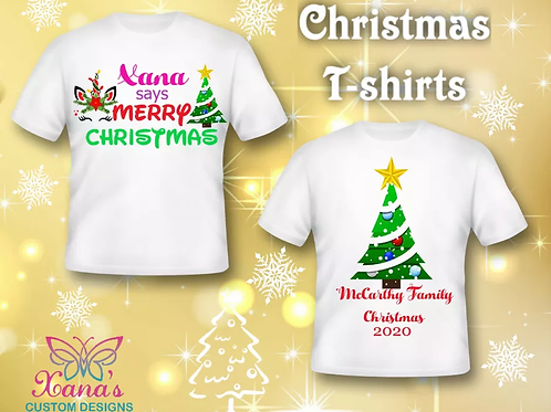 Children's Christmas t shirts 12 to 15 years