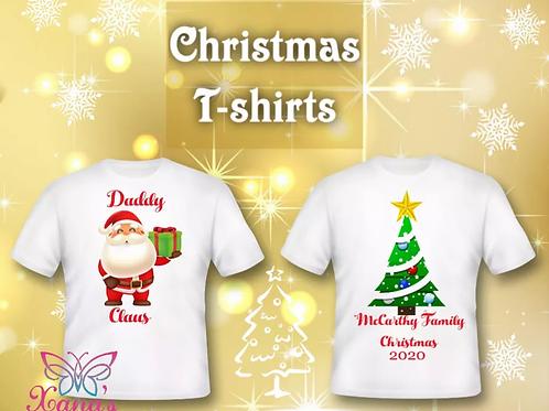 Children's Christmas t shirts  8 to 12 years