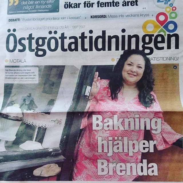 Har ni fått _ostgotatidningen idag ni som bor i #östergötland_ De gjorde en trevlig reportage om mig