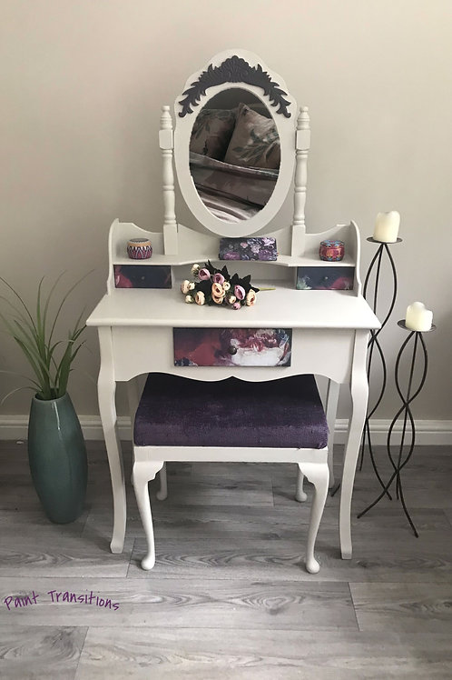 Stunning dressing table and stool