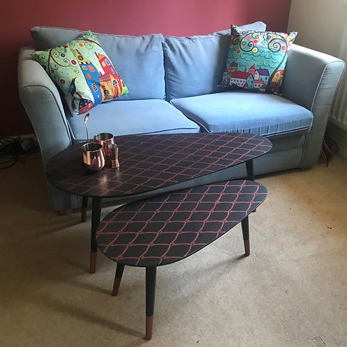 Art Deco style side tables