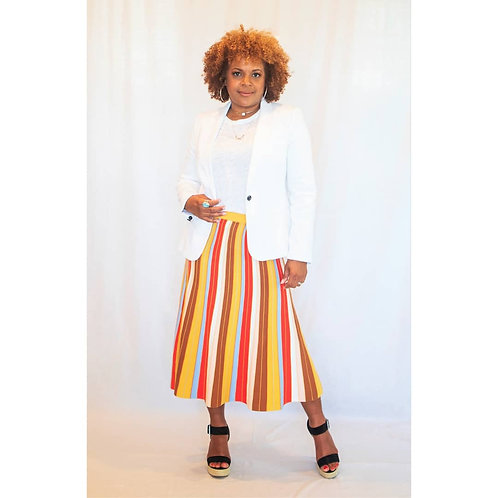 Rainbow Knit Skirt