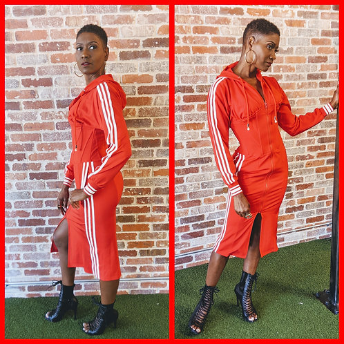 Red Track Dress