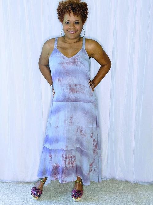 Stevie Lavendar Tye Dye Maxi Dress