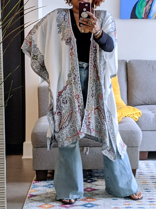 Embroided Kimono
