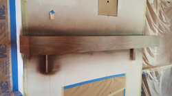 New Construction- Stained mantel