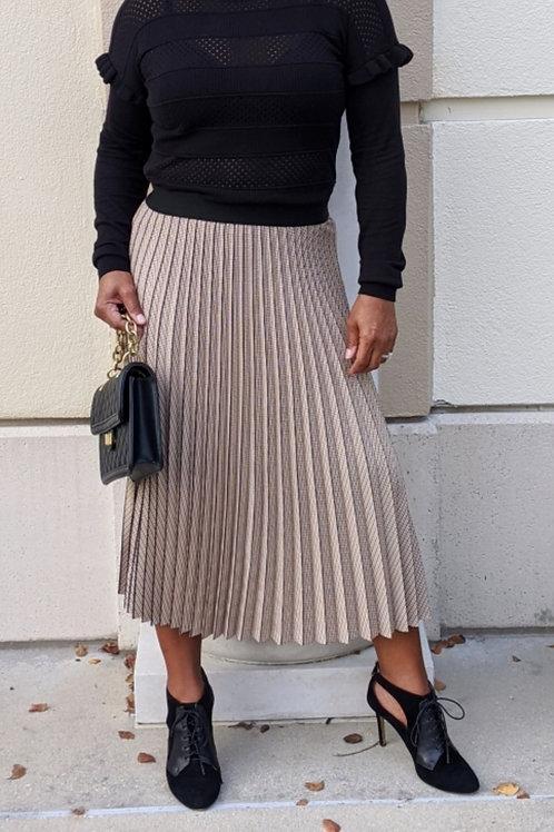 Margot Pleated Plaid Skirt
