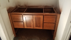 New construction- Stained cabinet