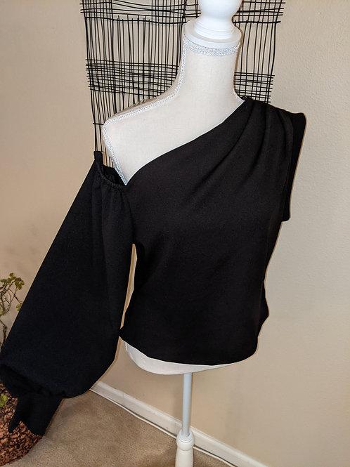 Plus Black One sleeve Cold shoulder