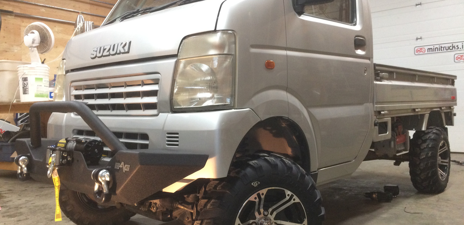 Suzuki carry winch bumper