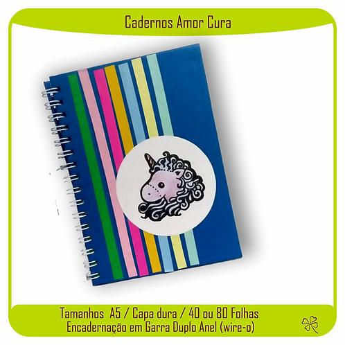 Caderno Amor Cura (Unicórnio Azul)