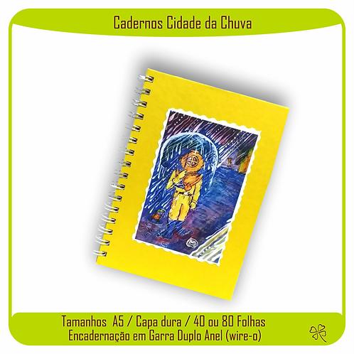 Caderno Cidade da Chuva (Escafandrista)