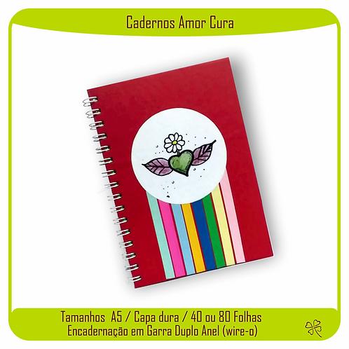 Caderno Amor Cura (Coração Vermelho)