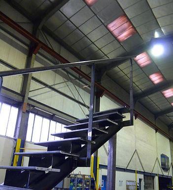 Escalier acier en cours de fabrication