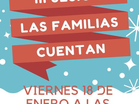 Las Familias Cuentan: 18 de enero a las 17h