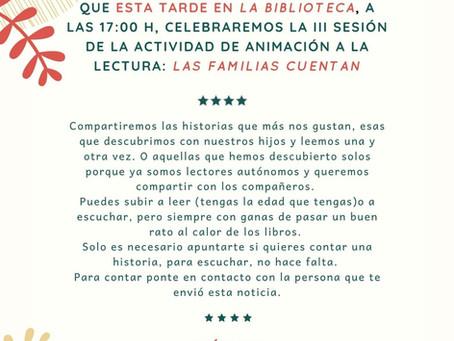 Las familias cuentan: 5 de diciembre a las 17h