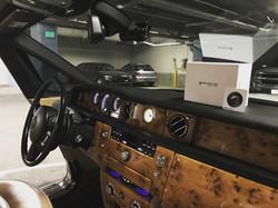 BlackVue Dash Cam In Luxury Vehicle