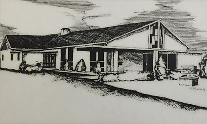 Sketch of Current Church House