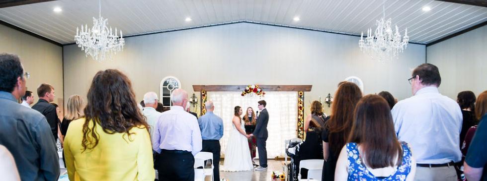 cloud nine venue wedding ceremony