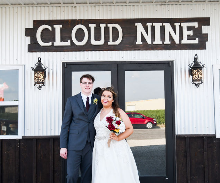 cloud nine venue wedding exterior