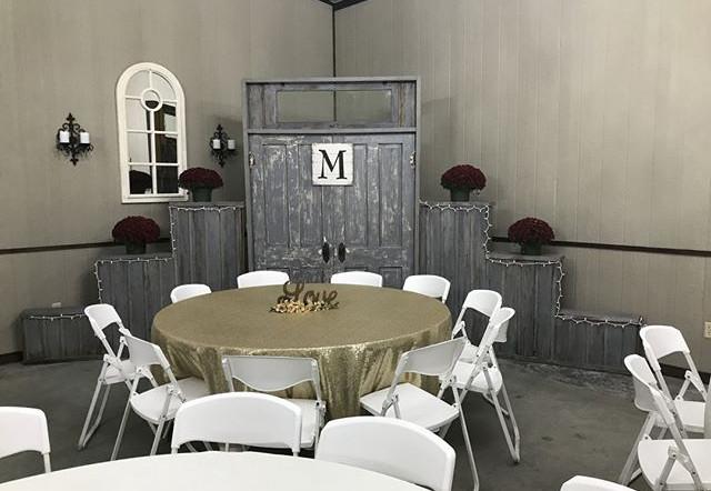 Cloud Nine Venue wedding reception backdrop decor