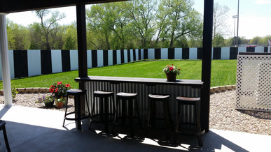 Cloud Nine Venue exterior patio and lawn for weddings and receptions