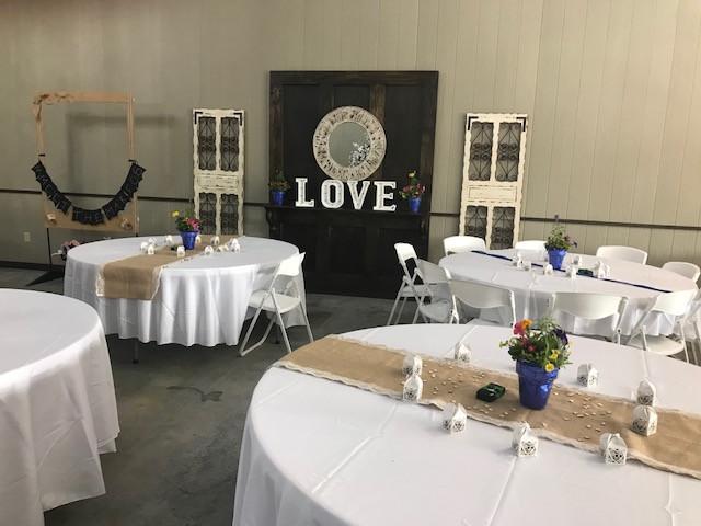 Cloud Nine Venue backdrops at wedding reception
