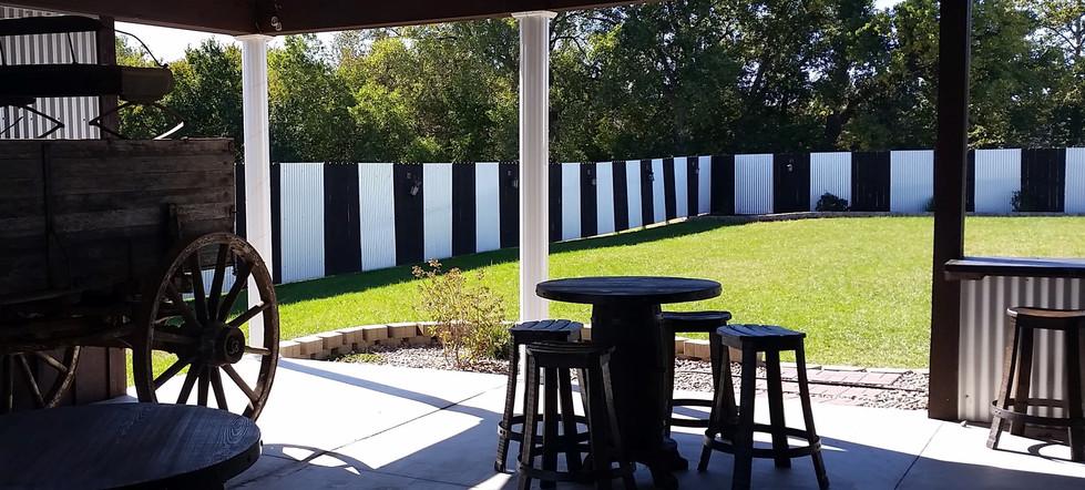 Cloud Nine Venue exterior patio and lawn
