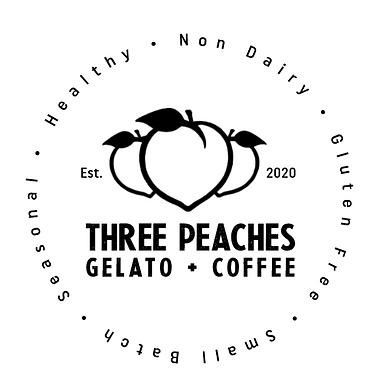 Three Peaches Gelato + Coffee Logo