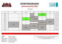 Sportprogramm Sommersemester 2021