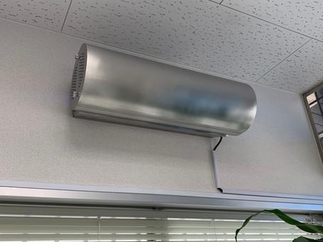 宮崎町薬局にファン循環型殺菌灯装置を設置しました。