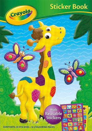 Crayola Sticker Book (With 56 Reusable Stickers)