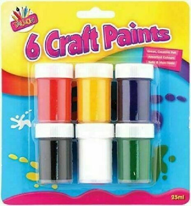 Craft Paint Pots (6 pack)