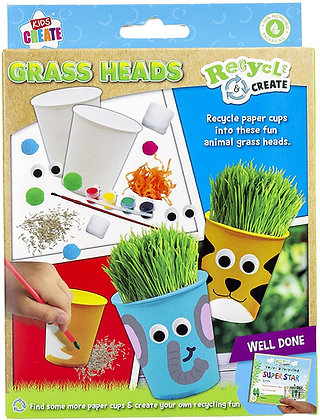 Recycle And Create Grass Heads Craft Set