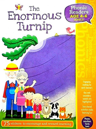 The Enormous Turnip (Phonics Readers Level 2 Age 4-6)