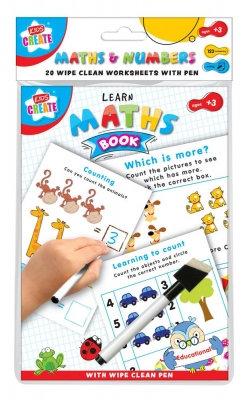 Kids Create A5 Wipe Clean Maths Book