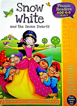 Snow White and the Seven Dwarfs (Phonics Readers Level 2 Age 4-6)