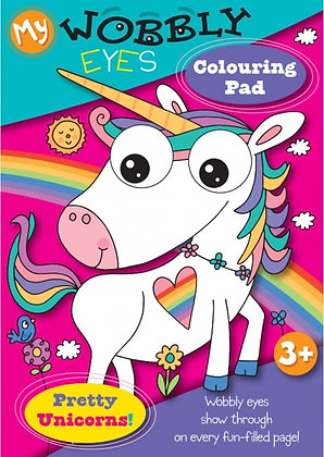 Wobbly Eyes Colouring Pad (Pretty Unicorns)
