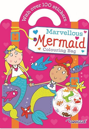 Marvellous Mermaid Colouring Book (with 100+ stickers)