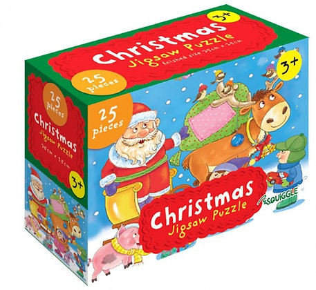 Christmas 25 Pieces Jigsaw Puzzle (Red Design)