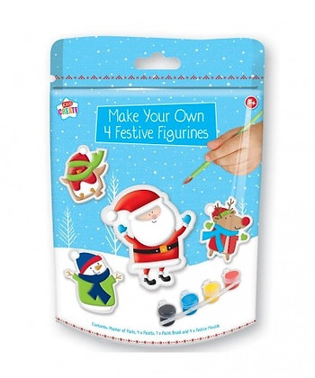 Make and Paint Your Own Christmas Figurines