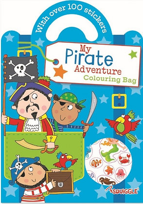 My Pirate Adventure Colouring Book (with 100+ stickers)