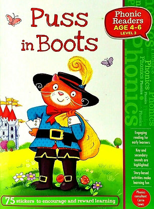 Puss In Boots (Phonics Readers Level 3 Age 4-6)