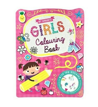 My Favourite Girls Colouring Book (With 100 Stickers)