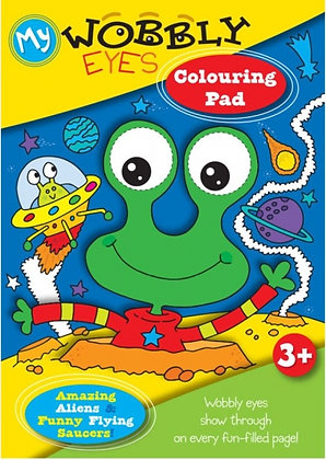 Wobbly Eyes Colouring Pad (Amazing Aliens and Funny Flying Saucers)