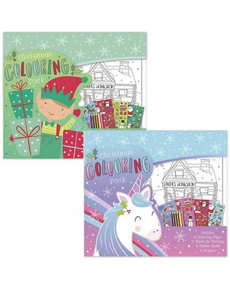 Christmas Colouring and Sticker Packs (Unicorn Theme)