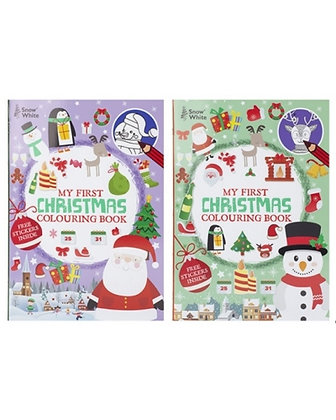 Extra Large Colouring Book With Stickers (Snowman Cover)