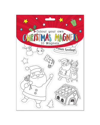 Colour Your Own Christmas Magnets