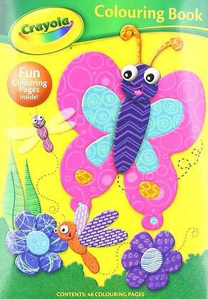 Crayola Colouring Book (Butterfly Cover)