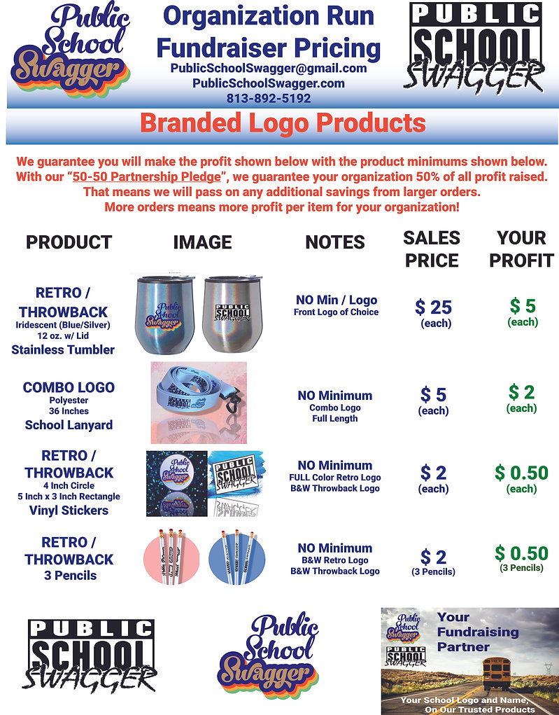 Product Pricing Sheet - Branded Products
